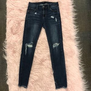 JUST USA Dark Wash Jeans Ripped